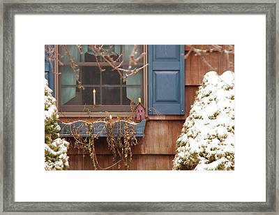 Winter - A Winters Morning Framed Print by Mike Savad