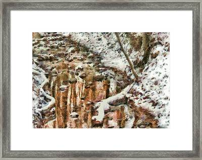 Winter - Natures Harmony Painted Framed Print by Mike Savad
