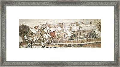 Winter, 1872  Framed Print by Camille Pissarro