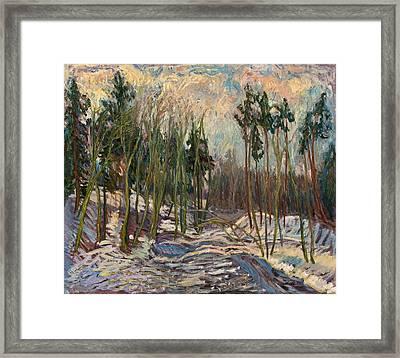 Winter A Framed Print by Babelis Vytautas