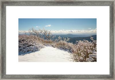 Winter Above The Land Framed Print