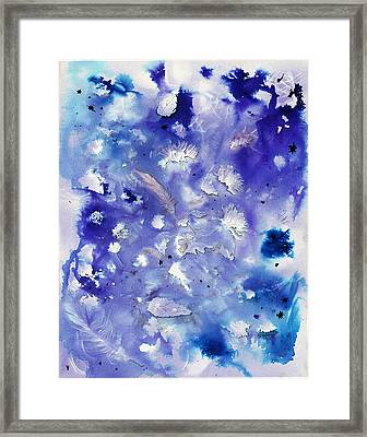 Winter Abstract Framed Print by Dawn Marie Black