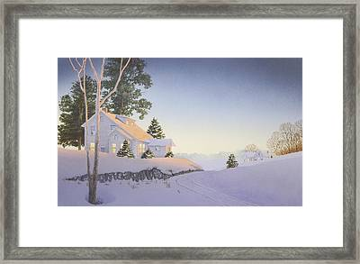 Winter Afterglow Framed Print