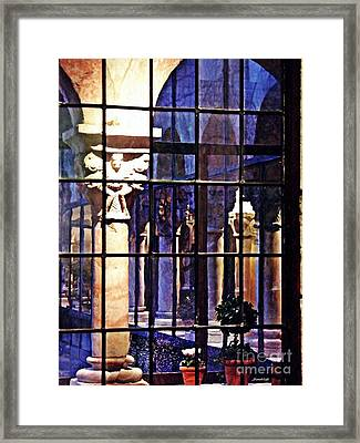 Winter Afternoon At The Cloisters 4 Framed Print