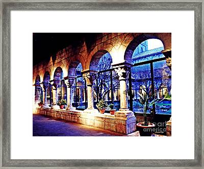 Winter Afternoon At The Cloisters 5 Framed Print by Sarah Loft