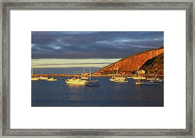 Framed Print featuring the photograph Winter Afternoon Sun At Friendly Bay by Nareeta Martin