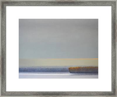 Winter Afternoon White Rock Framed Print