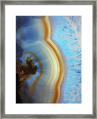 Winter Agate Framed Print