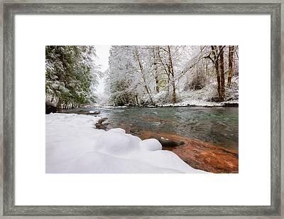 Winter Along Scoggins Creek  Framed Print