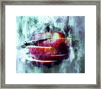 Winter Apple Modern Art Framed Print by Georgiana Romanovna