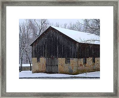 Winter Arrival Framed Print