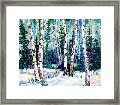 Winter Aspen Framed Print