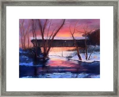 Winter At Bennett's Mill Framed Print