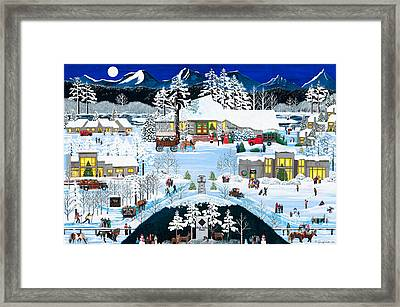 Winter At Black Butte Framed Print