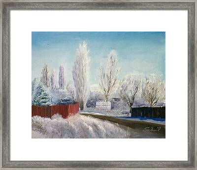Winter At Bonanza Framed Print