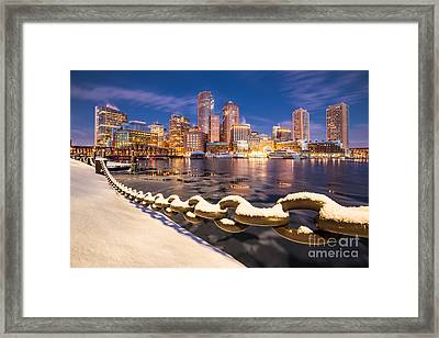 Winter At Boston Fan Pier Framed Print