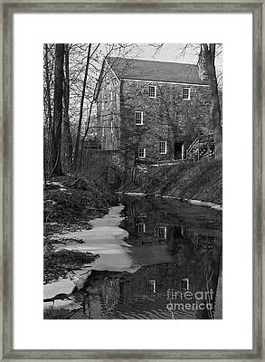 Winter At Cooper Mill Framed Print