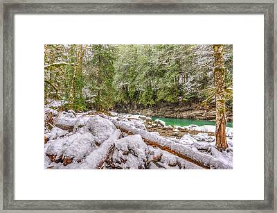 Winter At Eagle Falls Framed Print by Spencer McDonald