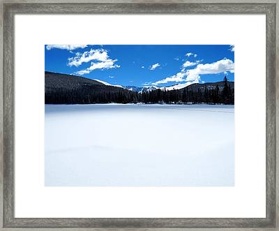 Winter At Echo Lake Framed Print