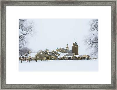 Winter At Erdenheim Farm - Whitemarsh Pa Framed Print by Bill Cannon