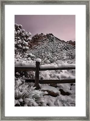 Framed Print featuring the photograph Winter At Garden Of The Gods by Ellen Heaverlo