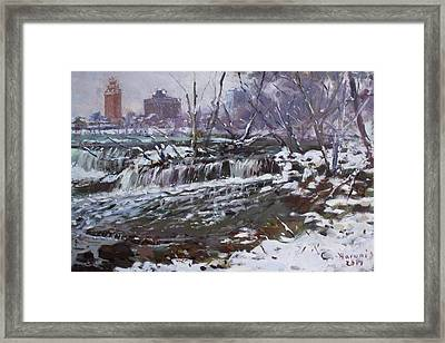 Winter At Goat Island Framed Print