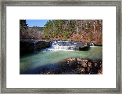 Framed Print featuring the photograph Winter At Haw Creek Falls by Michael Dougherty