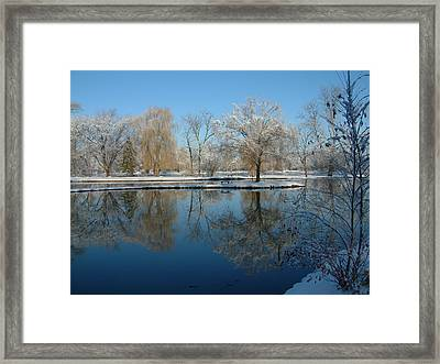 Winter At Hidden Lakes Framed Print by Gregory Jeffries