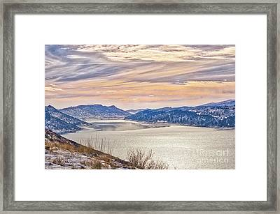 Winter At Horsetooth Reservior Framed Print