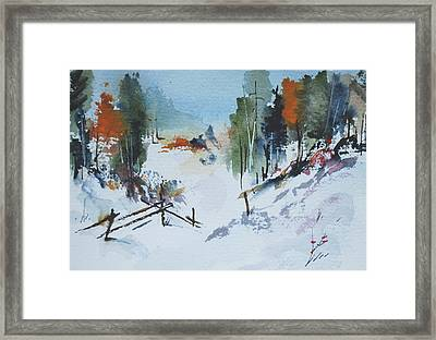 Winter At Marble Farm Framed Print by Wilfred McOstrich