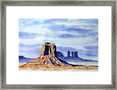 Winter At Merrick Butte Framed Print by Timithy L Gordon