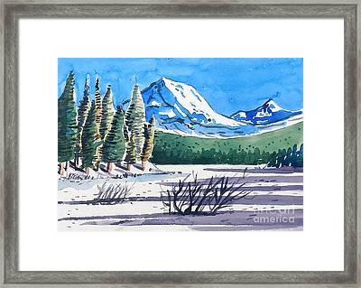 Winter At Mt. Lassen Framed Print