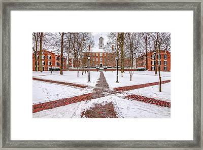 Ohio University Winter Snow Framed Print