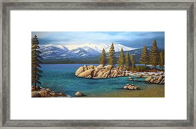 Winter At Sand Harbor Lake Tahoe Framed Print