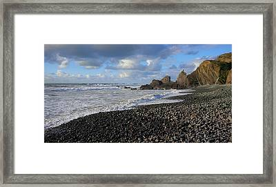 Winter At Sandymouth Framed Print