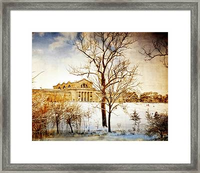 Winter At The Art Museum Framed Print by Marty Koch