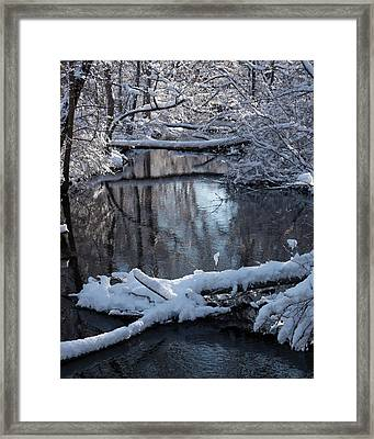 Winter At The Brook Framed Print