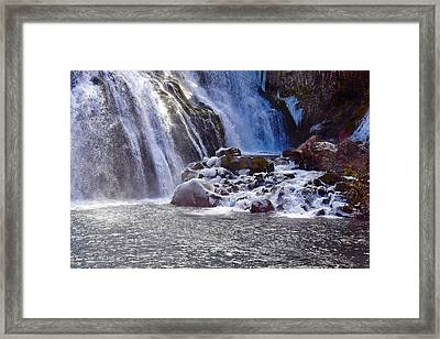 Winter At The Falls Framed Print