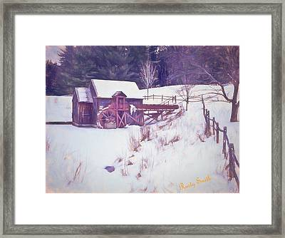 Winter At The Gristmill. Framed Print