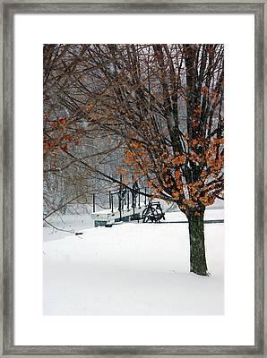 Winter At The Locks Framed Print