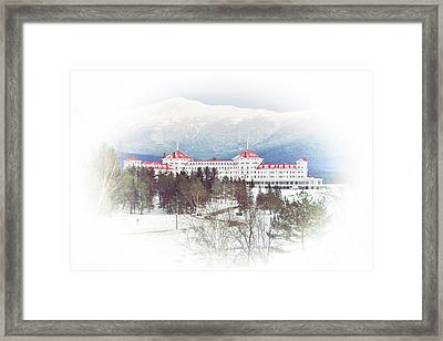 Winter At The Mt Washington Hotel 2 Framed Print