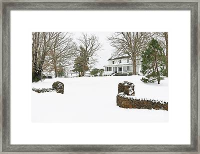 Winter At The Old Homeplace  Framed Print by Benanne Stiens