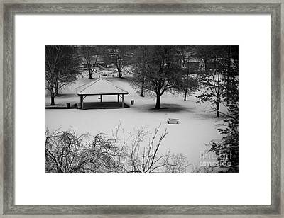 Winter At The Park Framed Print by Idaho Scenic Images Linda Lantzy