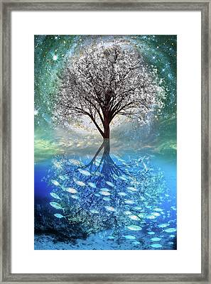 Winter At The Reef Framed Print by Debra and Dave Vanderlaan