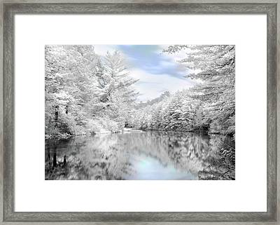 Winter At The Reservoir Framed Print