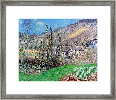 Winter At The Val De Falaise Framed Print by Claude Monet