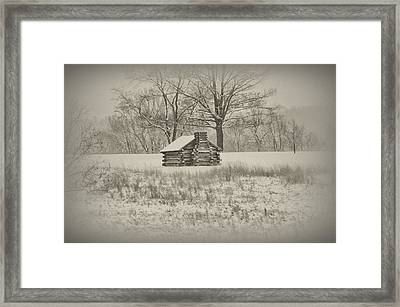 Winter At Valley Forge Framed Print by Bill Cannon