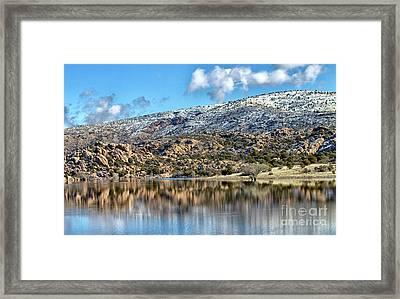 Winter At Watson Lake Framed Print