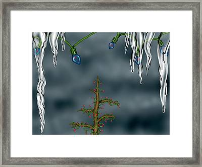 Winter Background Framed Print
