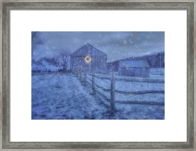 Winter Barn In Snow - Vermont Framed Print by Joann Vitali
